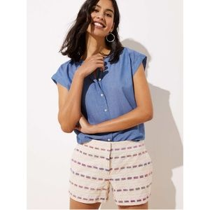 🆕🎁 LOFT Striped Boucle Shorts